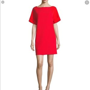 Oscar de la Renta Tie Back Wool Dress 12